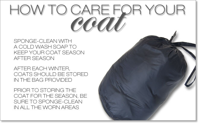 HOW TO CARE FOR YOUR COATS
