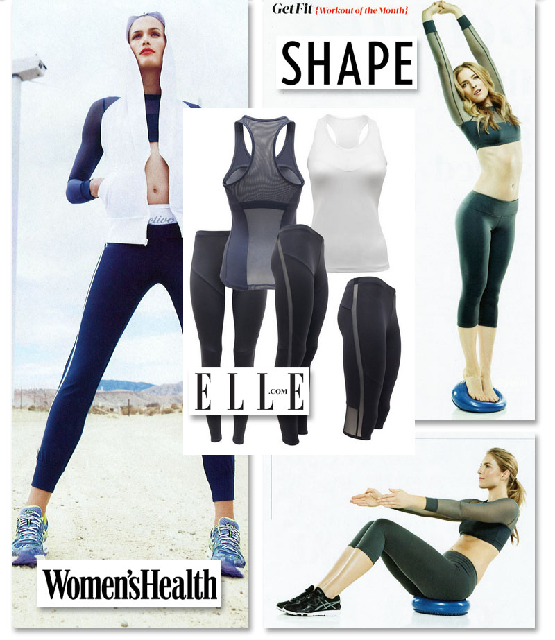 Active in Women's Health, Elle, and Shape